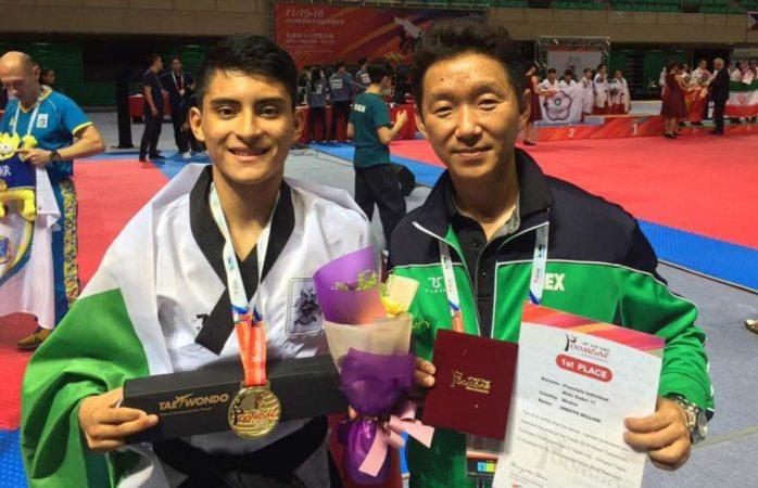 Gana oro México en campeonato mundial de taekwondo