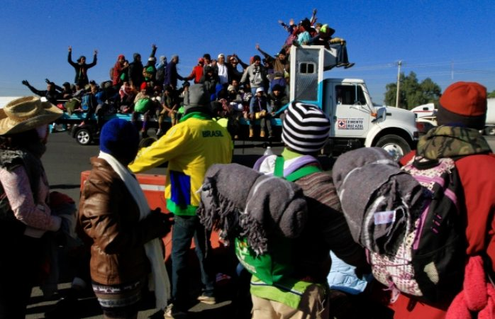 Convocan a marcha vs migrantes en Tijuana