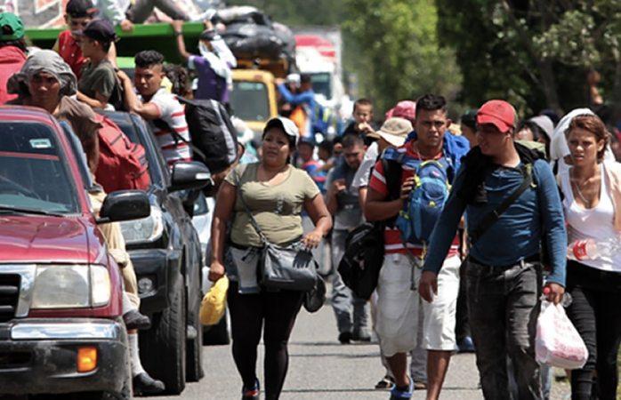 Llega segunda caravana migrante a albergue de Irapuato