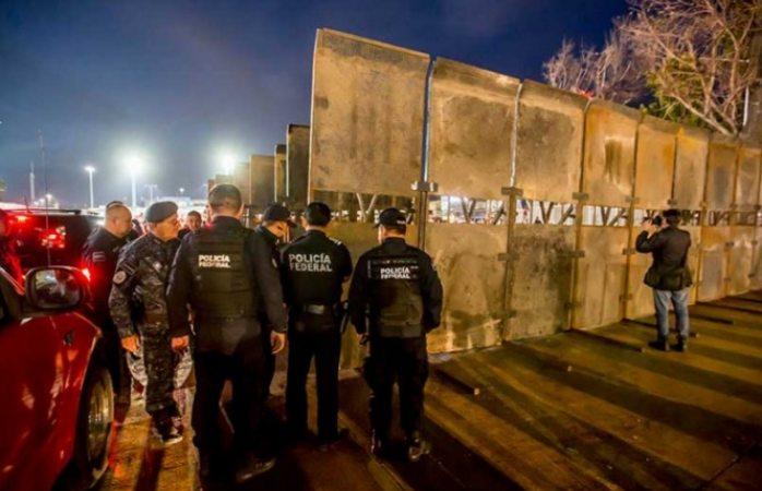Federales blindan Tijuana, evitan que migrantes lleguen a garita