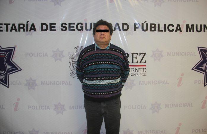 Detienen a hombre por acoso sexual en Juárez