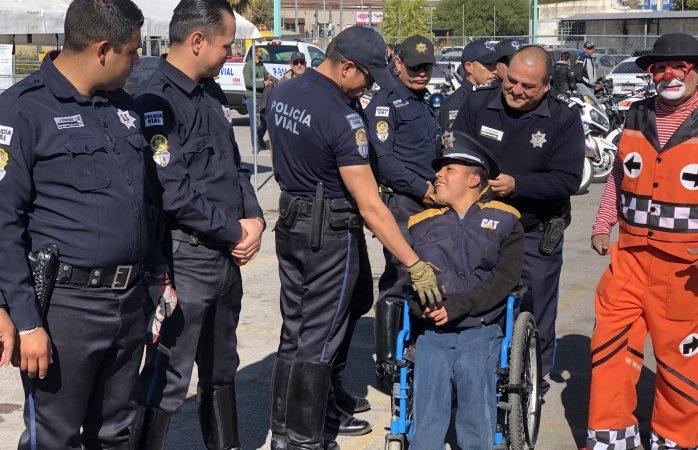 Cumple policía vial el sueño de Braulio