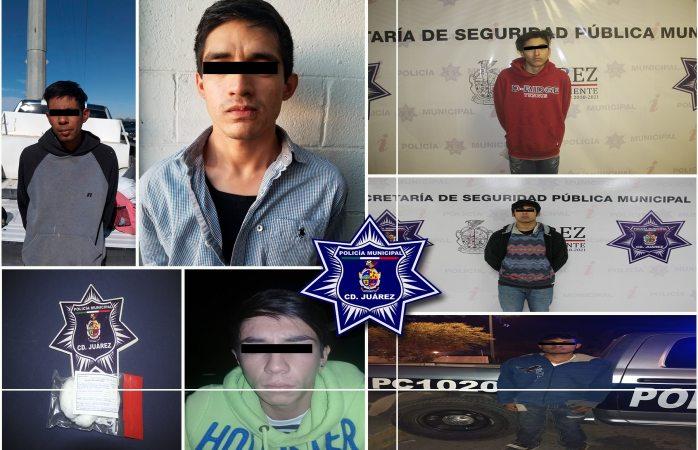 Detienen a siete presuntos narcomenudistas en Juárez