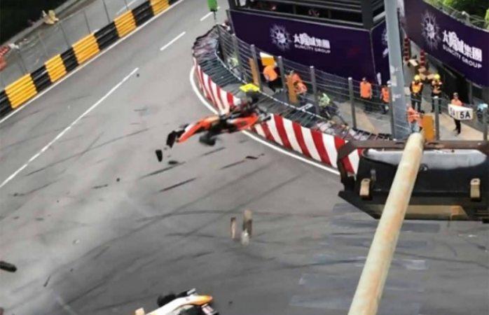 Piloto alemana de F3 se fractura la columna en accidente