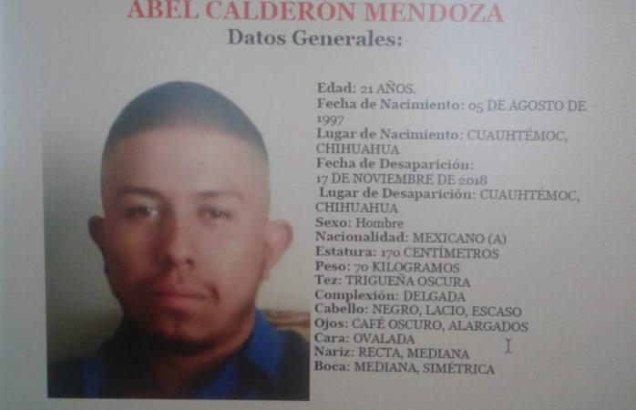 Buscan a joven desaparecido en Cuauhtémoc