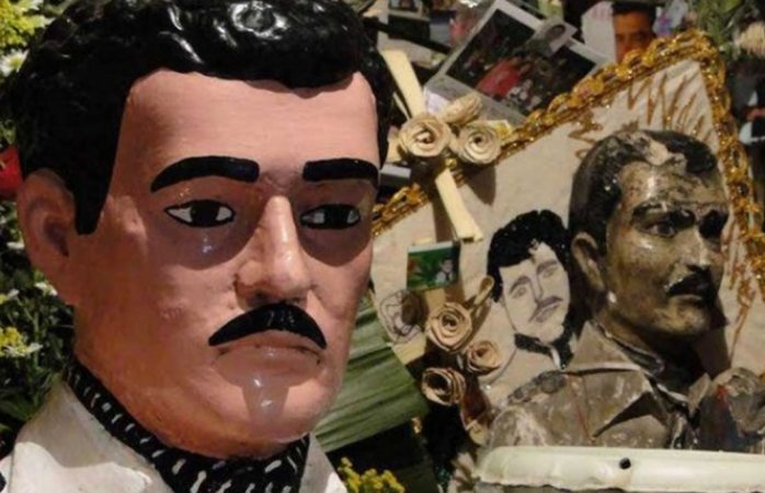 Estatua de Malverde aparece en juicio contra el chapo