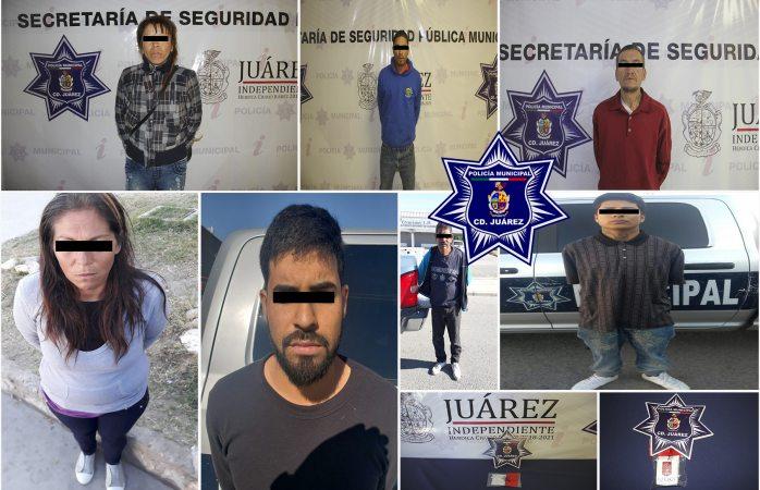 Detienen a 15 narcomenudistas en diferentes hechos en Juárez
