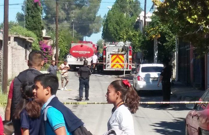 Se incendia casa en el Saucito