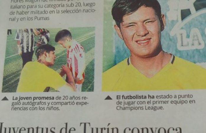 Oaxaqueño finge ser futbolista de la Juventus y trasciende — FOTOS