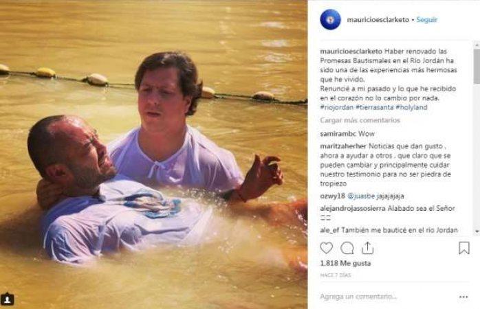 Mauricio Clark se bautiza y deja atrás su homosexualidad