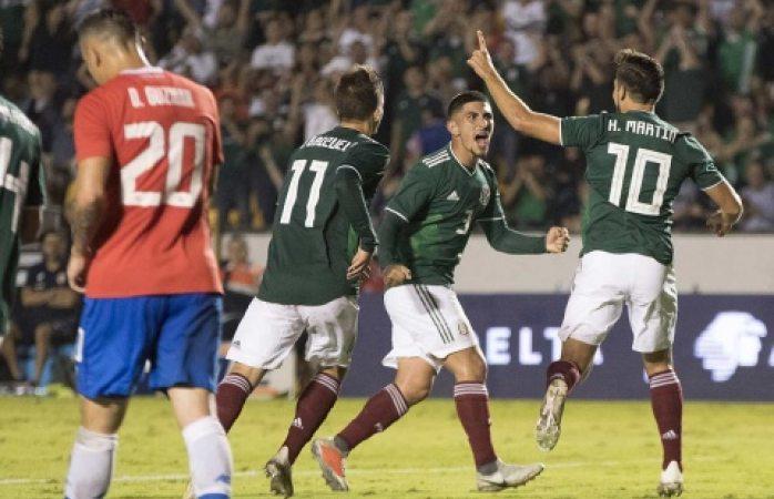 México remonta a Costa Rica