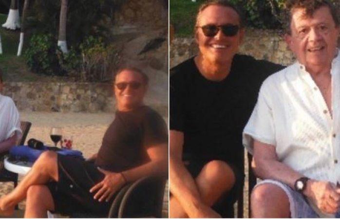 Se relajan en Acapulco Chabelo y Luismi