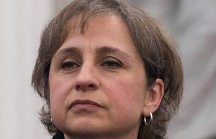 Es el primer día del regreso de Aristegui a la radio