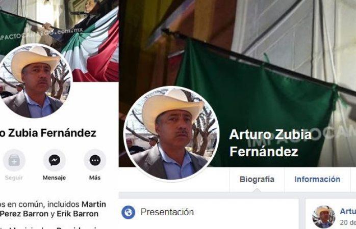 Circula cuenta falsa de facebook del alcalde Arturo Zubia