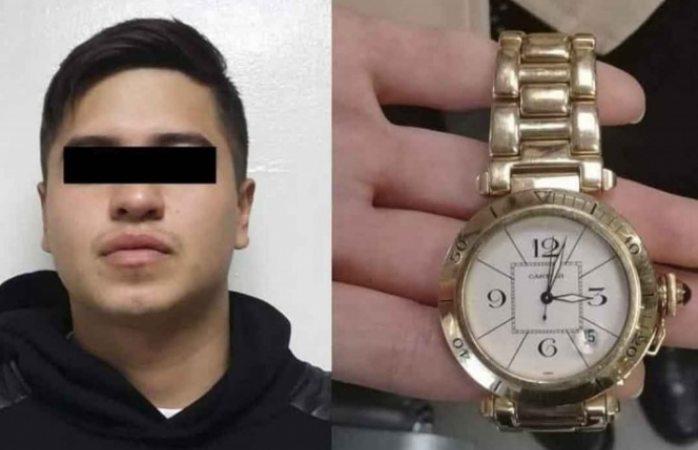 Cae al intentar empeñar reloj de 150 mil pesos que robó a su novia