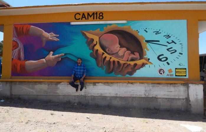 Pintará chihuahuense murales en Iztapalapa