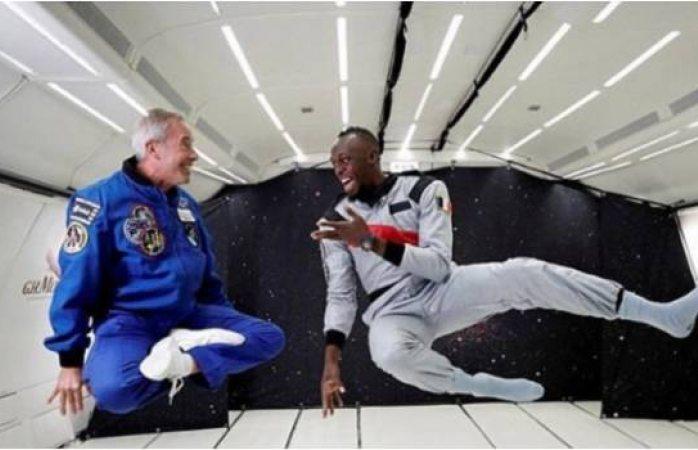 Usain Bolt sigue rompiendo barreras: ahora corre en gravedad cero