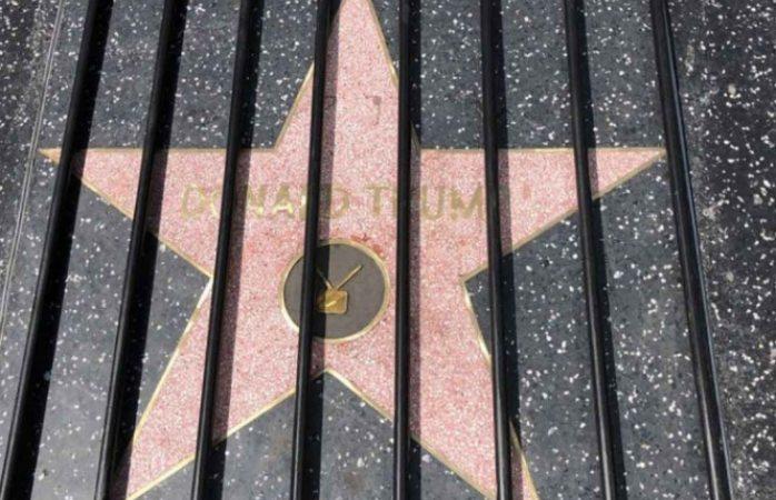 Estrella de Trump en Hollywood amanece tras las rejas