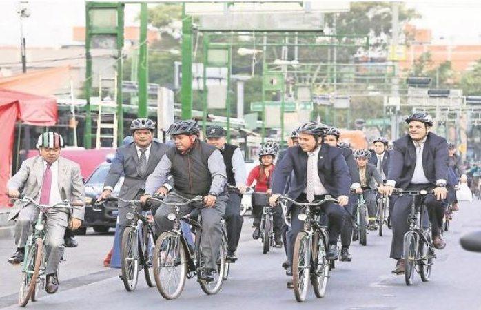 Celebran el Día Mundial Sin Auto en México