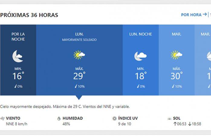 Inicia lunes con probabilidad de lluvia, máxima de 29° C