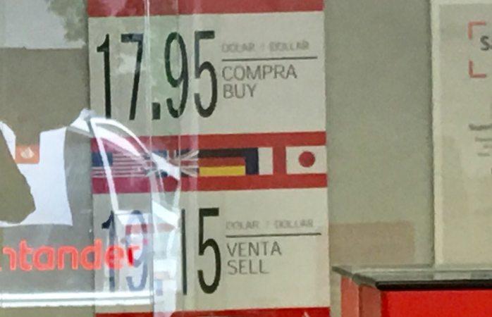 Inicia semana en $19.15 cotización del dólar a la venta