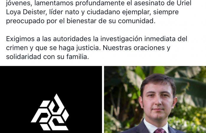 Exigen empresarios jóvenes justicia inmediata para Uriel Loya