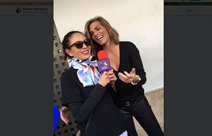 Captan a Monserrat y Yolanda en tv azteca