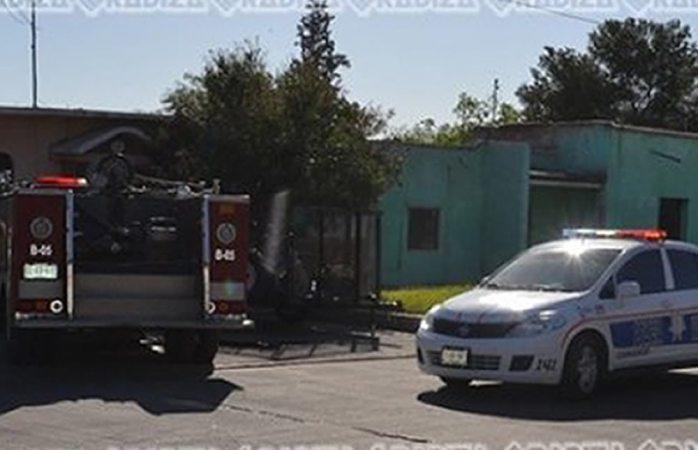 Se incendia bodega de casa en Camargo