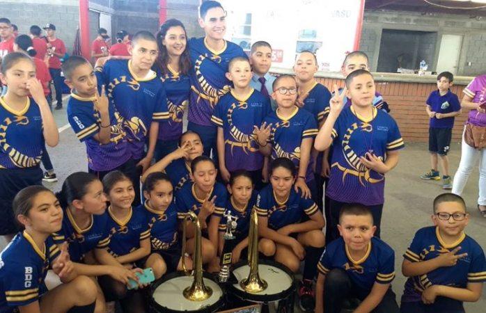 Gana tercer lugar nacional banda de guerra primaria Antonio Quevedo Caro