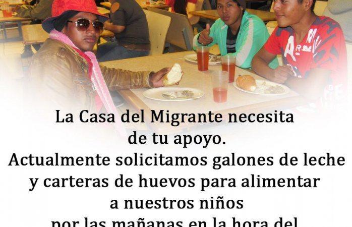 Casa del migrante busca apoyo de la ciudadanía