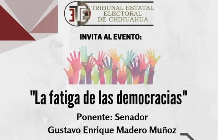 Hace IEE campaña al senador Gustavo Madero