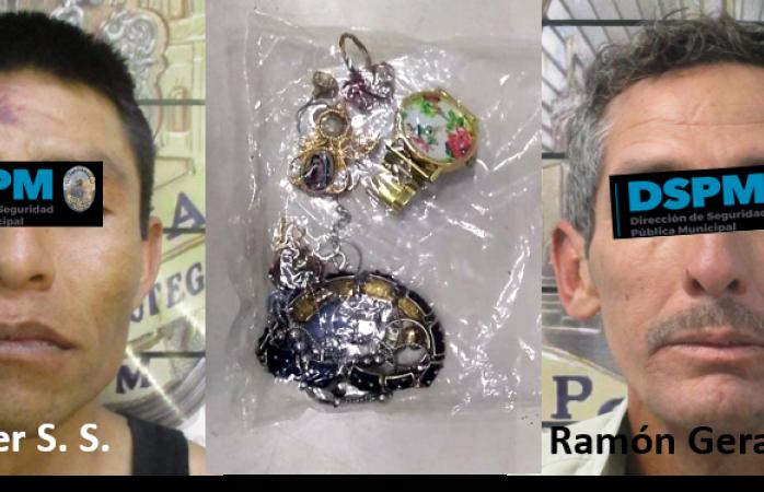 Detienen a dos ladrones en distintos hechos
