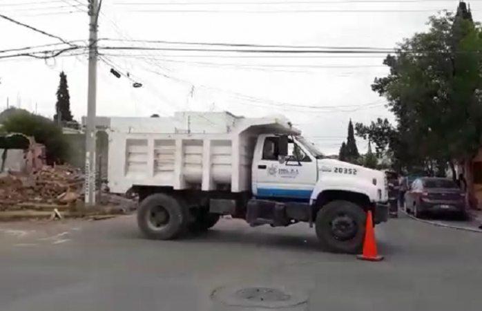 Alarma por fuga de gas en obras de demolición del municipio