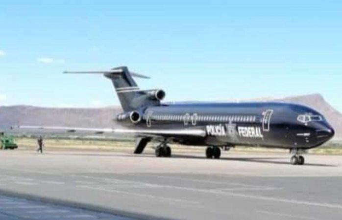 Aterrizó desde la tarde avión de la federal