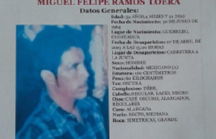 Buscan a desaparecido en carretera La Junta
