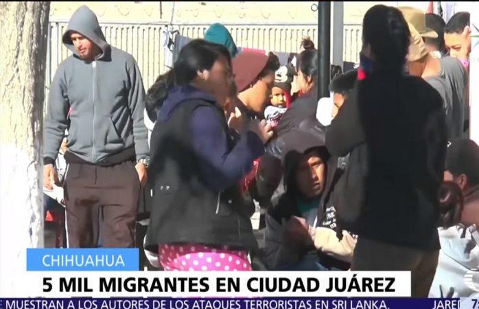 Casi 5 mil migrantes se concentran en Juárez