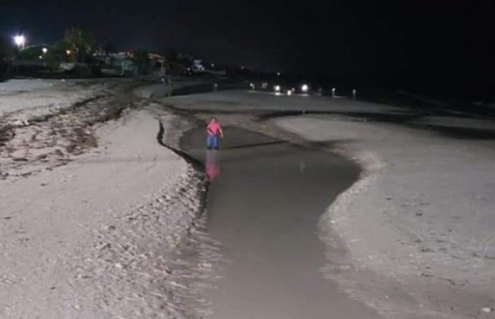 Sorprende a turistas alejamiento del mar en Yucatán