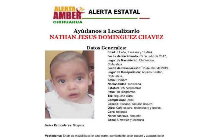 Desaparece un bebé de 1 año en Aquiles Serdán