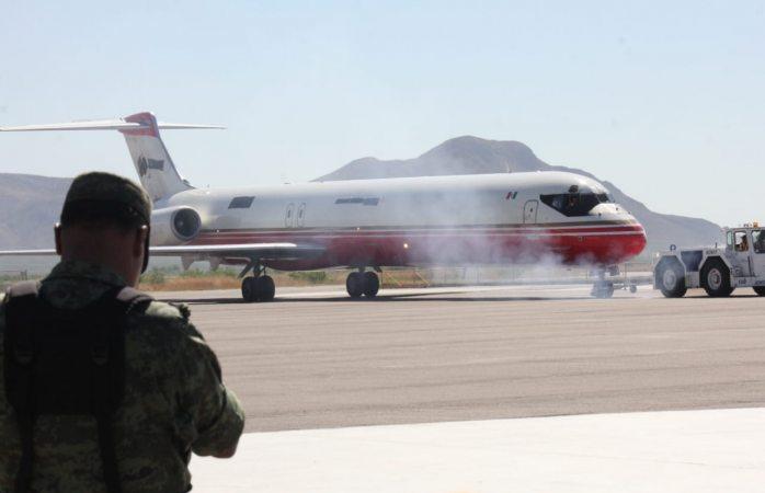 Realizan simulacro de amenaza de bomba en avión de carga