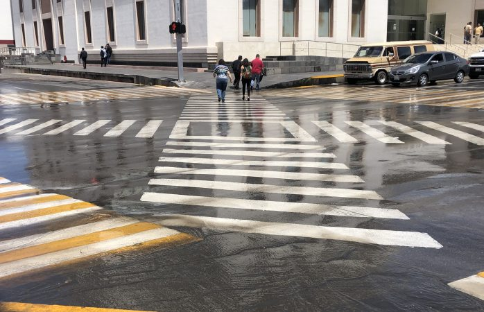 Limpiaron las lluvias los pasos diagonales