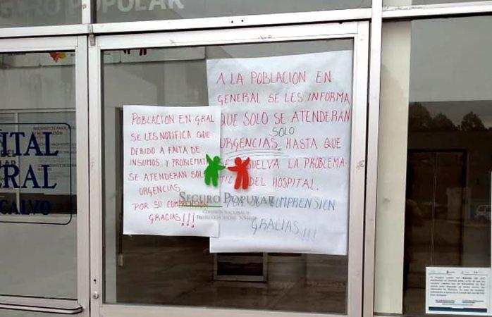 Realizan paro de labores en hostal de Guadalupe y Calvo; no tienen ni curitas