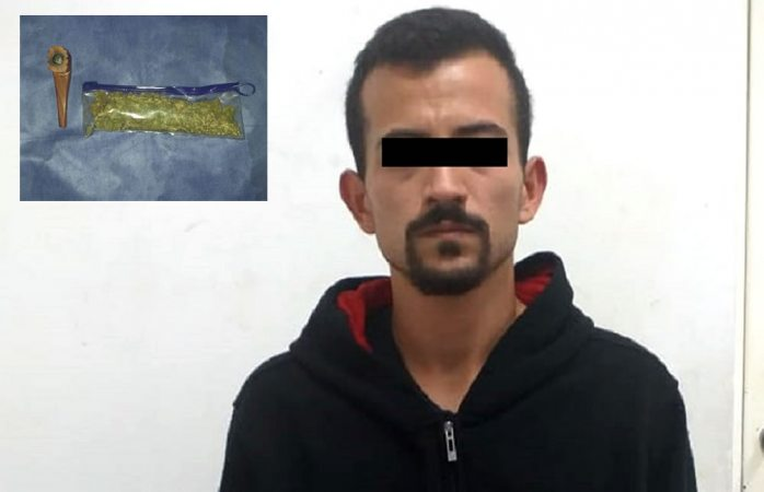 Detienen a presunto narcomenudista en Cuauhtémoc