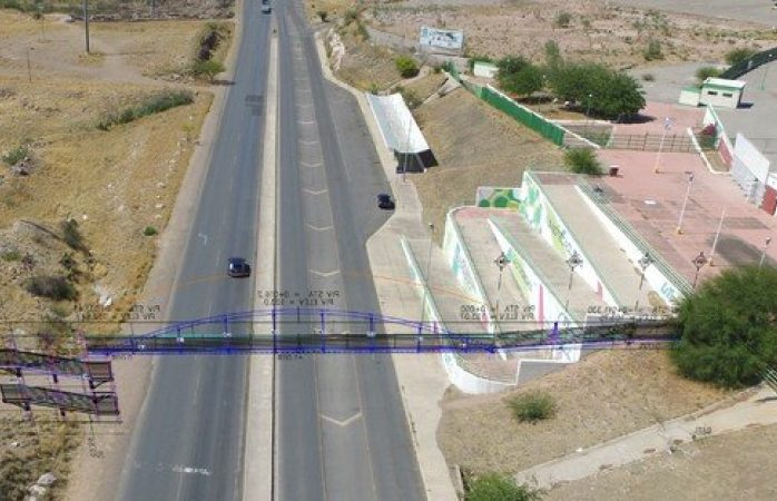 Empieza construcción de puente peatonal para estudiantes del cobach 21