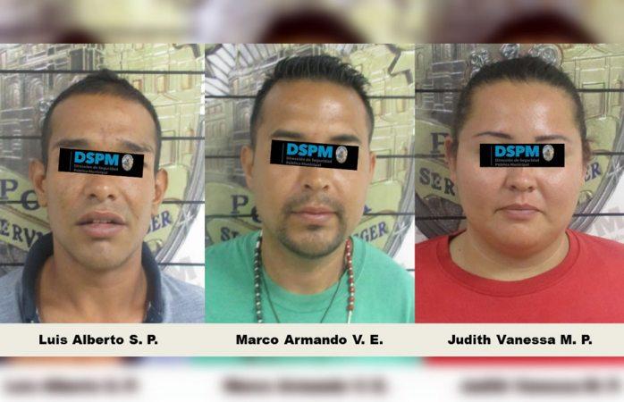 Caen tres probables autores de robo al sur de la ciudad