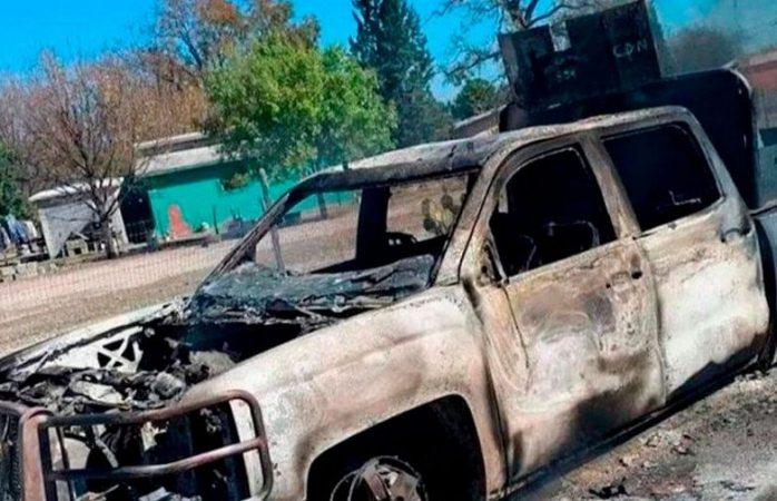 Imagen diabólica aparece en vehículo en llamas en coahuila