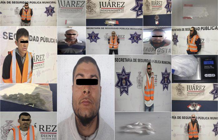 Sorprenden a 11 narcomenudistas