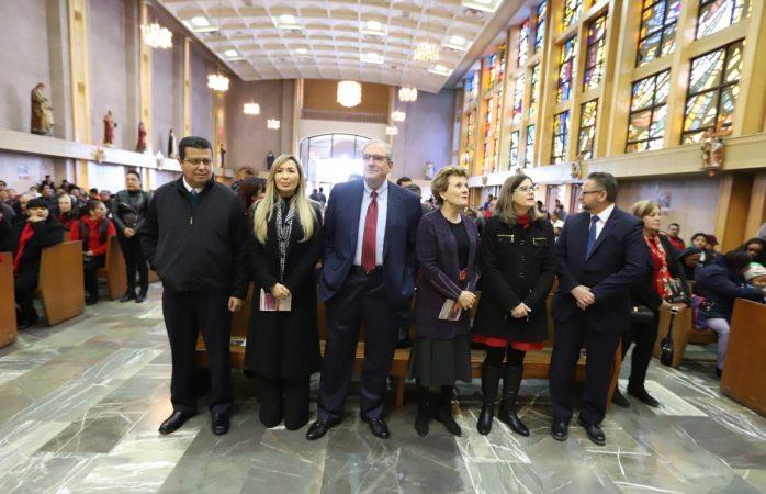 Acuden funcionarios de El Paso a misa de la fundación de Juárez