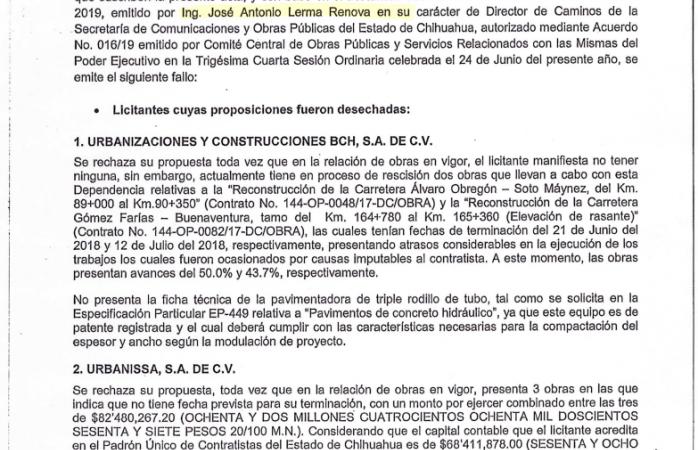 Exhiben documentos que prueban corrupción en obras públicas