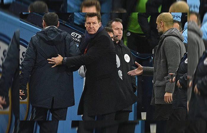 Deja Sarri con la mano estirada a Guardiola