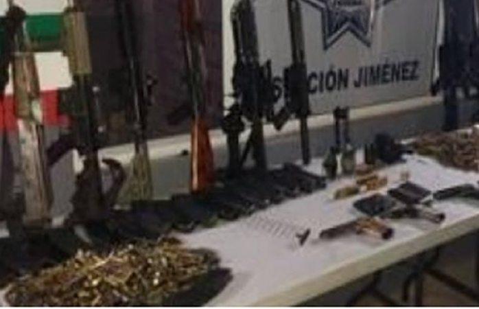Decomisan arsenal durante operativo en Jiménez